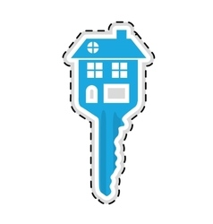 house shaped key icon image vector image