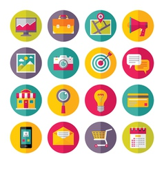 Icons Set in Flat Design Style - 01 vector image