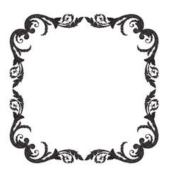 Isolated ornament in baroque style vector