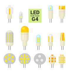 led light g4 bulbs colorful icon set vector image