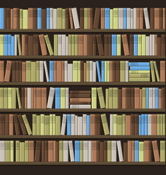 library book shelf seamless background vector image