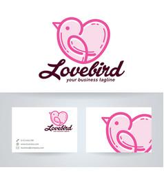 Love bird logo design vector