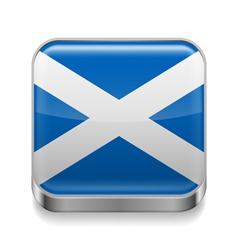 Metal icon of Scotland vector image