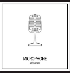 microphone isolated icon vector image