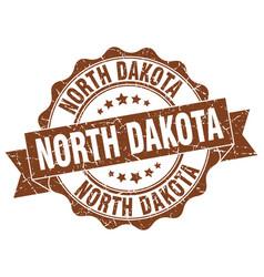 North dakota round ribbon seal vector