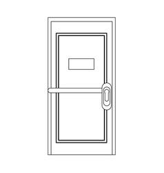 office door isolated vector image