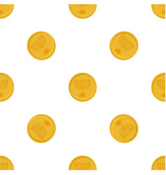 on theme big colored pattern coin vector image