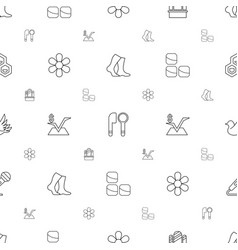 pattern icons seamless white background vector image