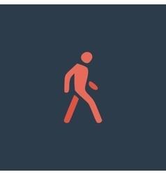 Pedestrian flat icon vector