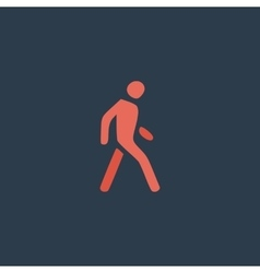Pedestrian flat icon vector image