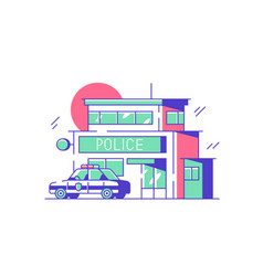 police or security city department vector image
