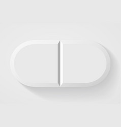 realistic white pills and tablets isolated on vector image