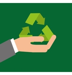 Recycle arrows symbol ecology vector