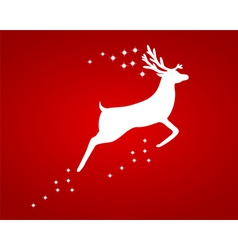 Reindeer with stars vector