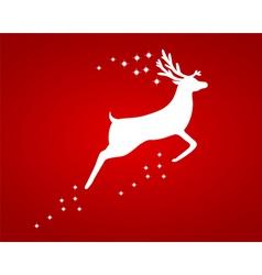 Reindeer with stars vector