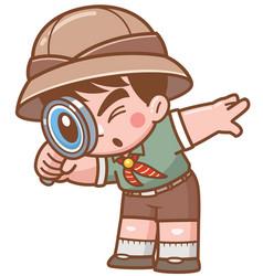 Safari boy vector