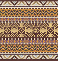 Seamless pattern in ethnic style vector