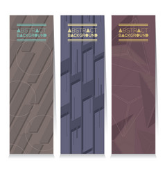 Set of different three stripes graphic banner vector
