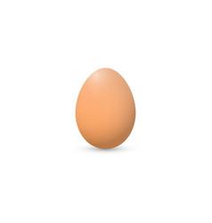 Single realistic animal egg chicken egg isolated vector