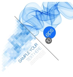 Smoke wave background vector image