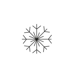 snowflake icon sign design vector image