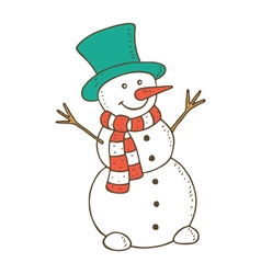 Snowman colored vector