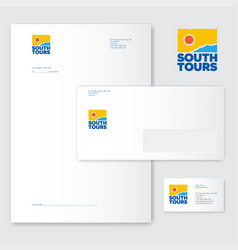 southern tours logo identity tourism vector image
