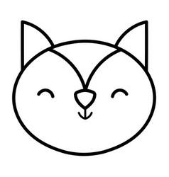 squirrel head animal cartoon design icon thick vector image