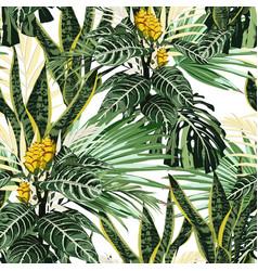 summer hawaiian seamless pattern vector image