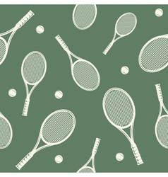 Tennis rackets seamless pattern vector image