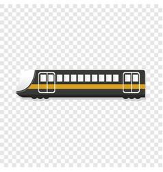 Urban passenger train icon cartoon style vector