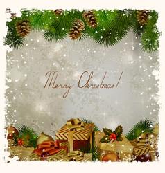 vintage Christmas vector image