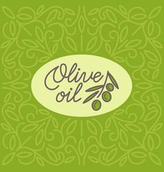 vintage olive oil logo vector image