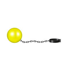 vintage shackle in yellow and black design vector image