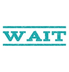 Wait Watermark Stamp vector