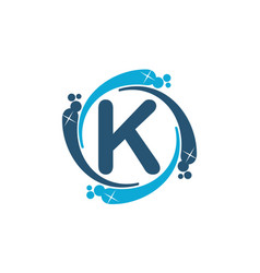 Water clean service abbreviation letter k vector