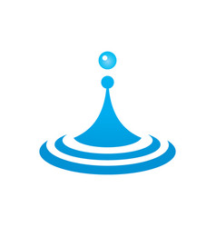 Water droplets icon vector