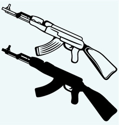 Assault rifle ak47 vector image vector image