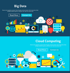 big data analysis website banners vector image