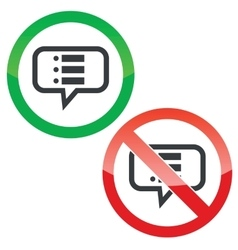 Dotted list message permission signs vector
