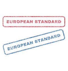 european standard textile stamps vector image