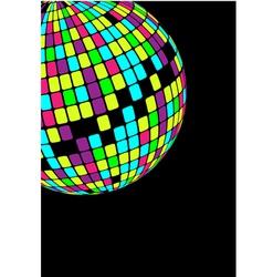 glowing disco ball vector image vector image