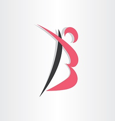 Letter b man icon stylized vector