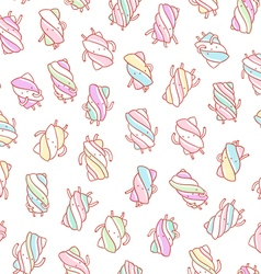 Marshmallow characters pattern vector image vector image