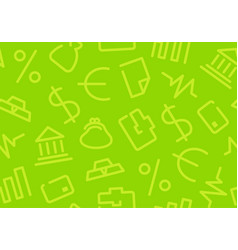 seamless background with financial symbols vector image