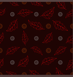 seamless pattern of orange and white daisies with vector image