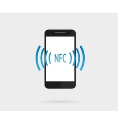 Smartphone with nfc function vector image vector image