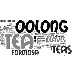 what is imperial formosa oolong tea text word vector image