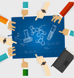chemistry study element scribble doodle science vector image vector image