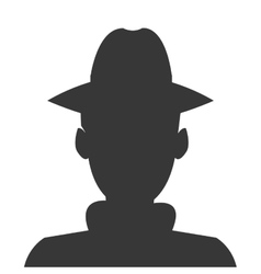 detective or spy silhouette icon vector image